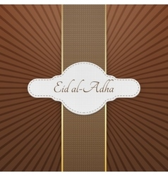Eid al-adha realistic greeting badge vector