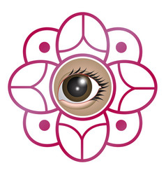 flower with a female eye concept vector image