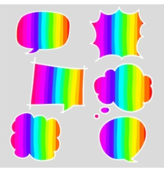 Hand-drawn colorful speech bubbles vector image vector image