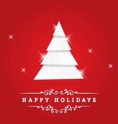 Holidays Greeting vector image vector image