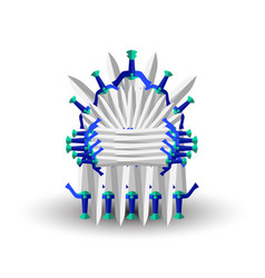 Iron throne for computer games design vector