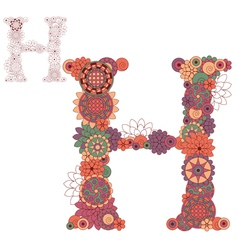 Letter H vector image vector image