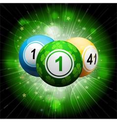 Lucky clover bingo ball explosion on green2 vector