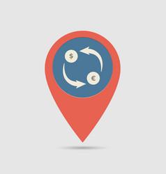 Map pin exchange money vector