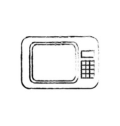 Microwave appliance electronic device sketch vector