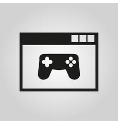 Online games icon design gaming symbol vector