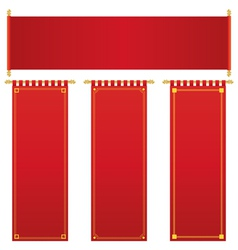 Red and gold banners vector