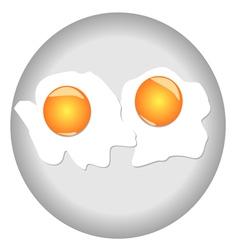 SCRAMBLED EGGS vector image