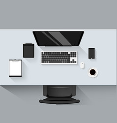 Set of flat design modern business office vector