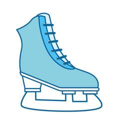 sport ice skates vector image