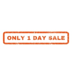 Only 1 day sale rubber stamp vector