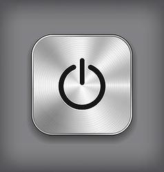 Power icon - metal app button vector image