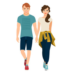 Young couple in sport style outfit vector