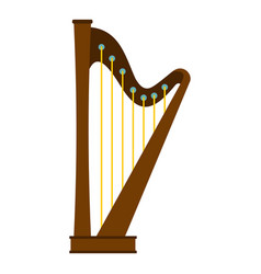 Wooden harp icon isolated vector