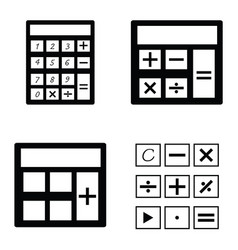 Calculator icon set vector