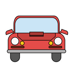 Color image cartoon front view automobile vector