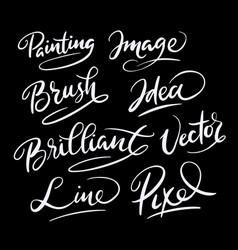 Brilliant idea hand written typography vector