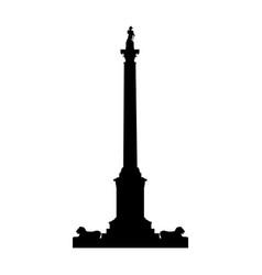 Monumet column silhouette vector