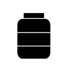 Medicine bottle icon vector