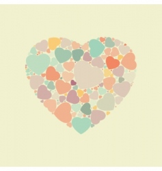 abstract vintage heart background  vector image