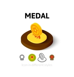 Medal icon in different style vector