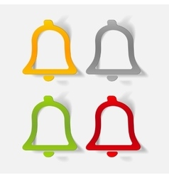 Realistic design element bell vector
