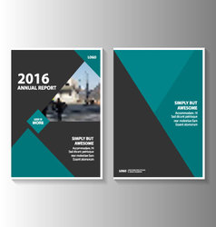 Green black annual report leaflet brochure vector