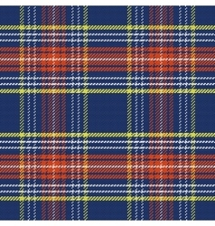 Seamless blue and red scottish tartan vector