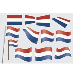 Flags of netherlands vector