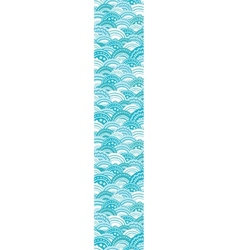 Abstract blue waves vertical border seamless vector