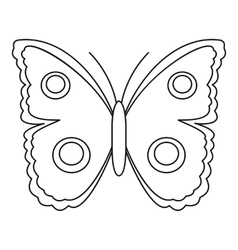 Big spot butterfly icon outline style vector