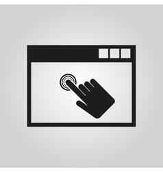 Click icon design symbol web graphic vector
