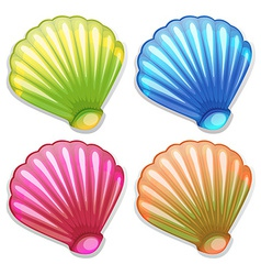 Colourful shells vector
