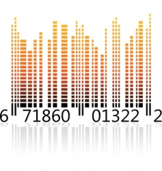 digital barcode vector image