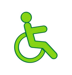 disabled sign lemon scribble vector image