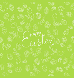 Easter floral pattern vector