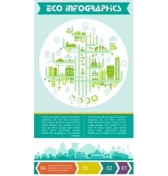 Eco infographic and option banners vector