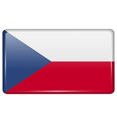 Flags Czech Republic in the form of a magnet on vector image vector image