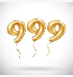 golden number 999 nine hundred and ninety nine vector image