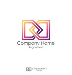 infinity initial letter dd letter d logo design vector image vector image