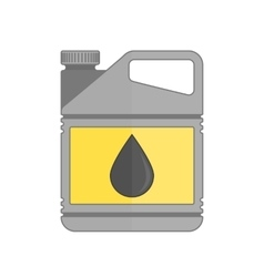 Plastic canister of motor oil vector image
