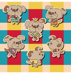 Puppies vector image vector image