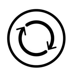 reset icon - iconic design vector image