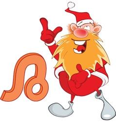 Santa Claus Astrological Sign in Zodiac Leo vector image