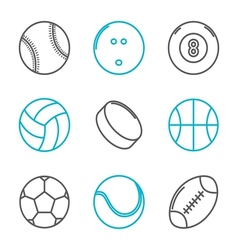 Simple trendy sport icons set vector