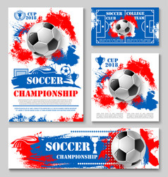 soccer championship cup poster for football design vector image