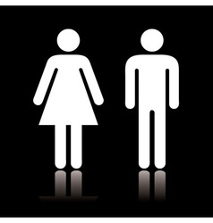 Toilet icon negative vector image vector image