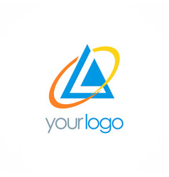 triangle loop business logo vector image