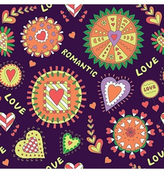 Valentine s day abstract pattern vector