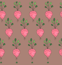 vegetable pattern with radish vector image